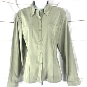 GEOFFREY BEENE SPORT Mint Green Button Up Stretch